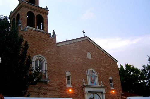 Our Lady of Guadalupe Church in Topeka, Kan., where Cuevas often performs solo and with her group.                                             (Sylvia Maria Gross)