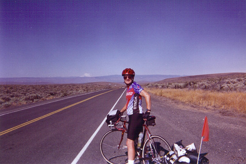 David Jones poses for the camera in eastern Washington State. It was on this ride that he fell in love with cycling.                                             (Courtesy Candyce Deddens)