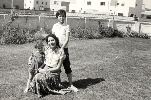 Sulaiman (far left), with her older sisters in Iraq in 1956.                                             (Courtesy Mona Sulaiman)