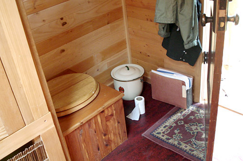 The toilet of Dee Williams' tiny house, which was the subject of some concern for some of our listeners.                                             (Joshua McNichols)