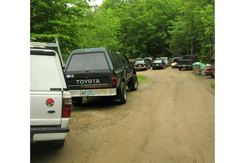 The volunteers flock to energy raisers from neighboring communities, filling their hosts' driveways.                                             (Shannon Mullen)