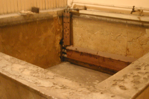 The interior the old marble bath underneath the Panama Hotel.                                             (Dominic Amorosia)