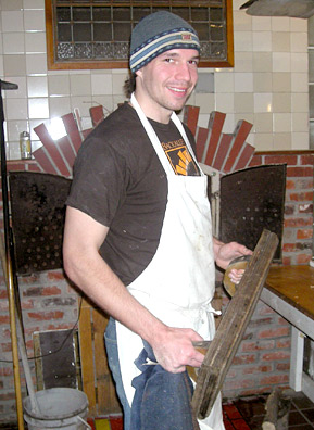 "Bryce Wiebe wakes up before dawn every Saturday to volunteer his time at the Back Alley Bakery every Saturday. He calls baking bread a ""prayerful activity.""                                             (Martin Wells)"
