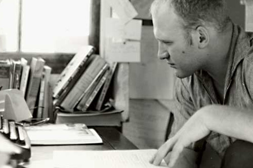 Ken Kesey in his writing studio in La Honda, Calif.                                             (Courtesy of Zane Kesey)
