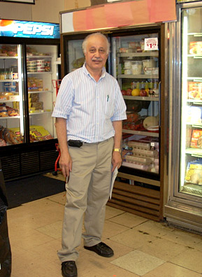 Faris Alameh has owned the Convenient Food Mart in Cleveland, Ohio's Old Brooklyn neighborhood for 18 years.                                             (Julie Grant)
