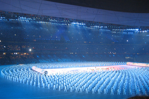 The Beijing Olympics opening ceremony.                                             (Alice Mong)