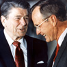 Ronald Reagan and George Bush, Sr.