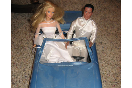 Ken and Barbie are late for the the wedding.                                             (Nancy Rosenbaum)