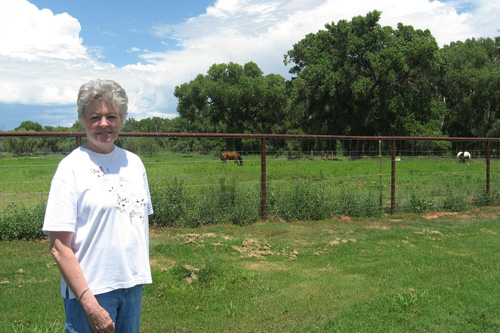 Local resident Deanna King is president of the Cornville Community Association. She says she bristles every time she hears a national reporter say McCain's cabin is in nearby Sedona.                                             (Rene Gutel)