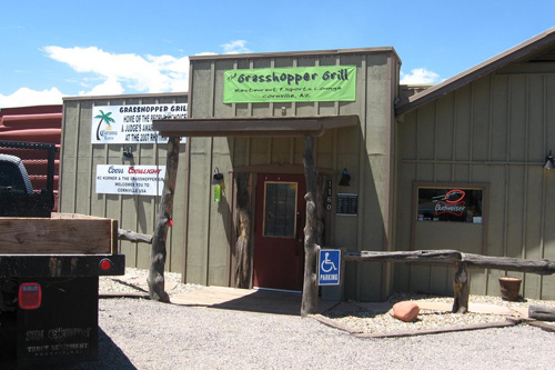 The Grasshopper Grill is one of only a few local businseses. If McCain becomes president, millions of tourist dollars may be pumped into Cornville economy.                                             (Rene Gutel)