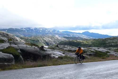 Day one of riding through the mountains, and we have Norway to ourselves.                                             (Leif Larsen)