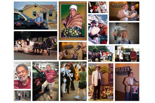 This is a collage of images that Curt Peters put together in honor of his new friend, Edwin Harrison. Harrison, a survivor of Hurricane Katrina, entrusted Peters to duplicate and restore his photos even though the two had barely met.                                             (Curt Peters)