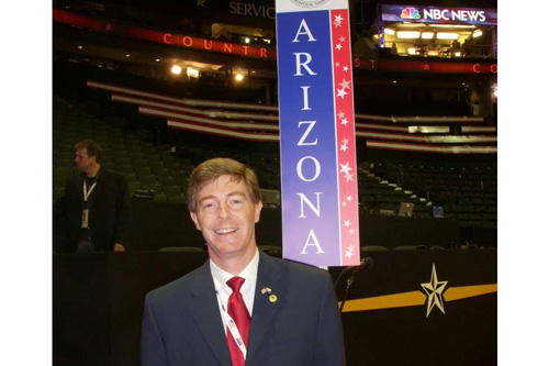Arizona Delegate Hugh Hallman, mayor of Tempe, Arizona.                                             (Jim Gates)