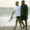 Obama on Kailua Beach