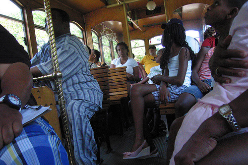 On the historic trolley tour.                                             (Joel Rose)