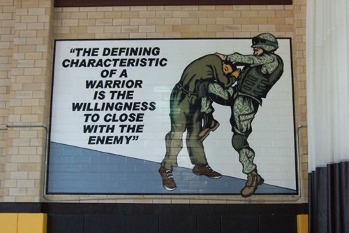 The motto at the U.S. Army Combatives school.                                             (Philip L. Graitcer)