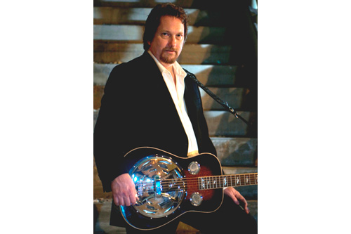 Jerry Douglas and the Dobro.  Although the instrument was invented for use in Hawaiian music, it soon spread to other genres.                                             (Courtesy Jerry Douglas)