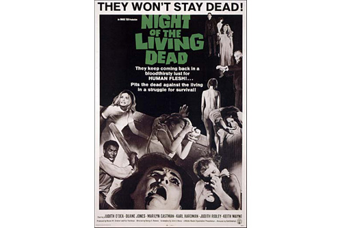 """Night of the Living Dead"" movie poster.                                             (The Walter Reade Organization)"