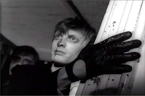 "Russ Streiner as ""Johnny"" in ""Night of the Living Dead.""                                             (The Walter Reade Organization)"