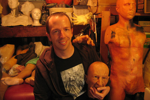 In the Little Shop of Horrors he's created in his garage, make-up artist Brad Palmer manufactures gory and slimly body parts for independent movies.                                             (Claes Andreasson)