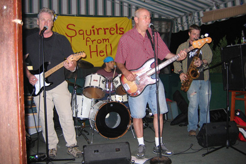 Squirrels from Hell at a recent gig in the Hamptons.  They've been playing for the runners at the marathon for 20 years.                                             (Courtesy Squirrels from Hell)