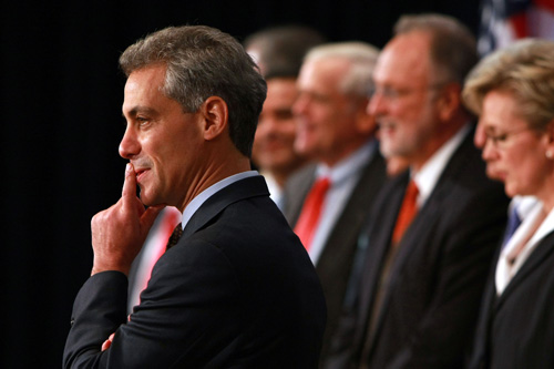 Rahm Emanuel, Chief of Staff for President-Elect Barack Obama.                                             (Justin Sullivan/Getty Images)