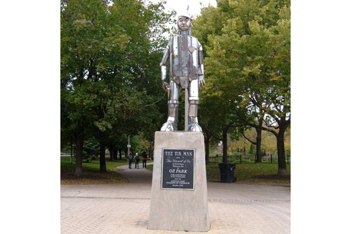 The Tin Man welcomes you to Oz Park in Chicago, Ill.                                             (Blair Chavis)