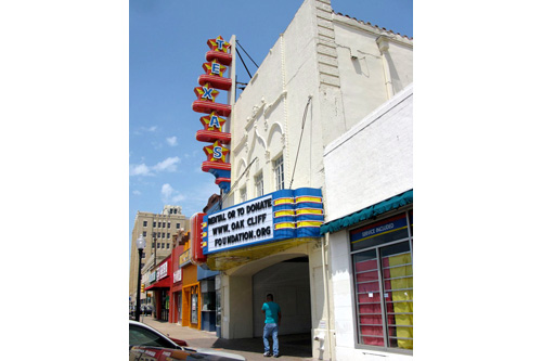The Texas Theatre in the Oak Cliff section of Dallas. This is where Lee Harvey Oswald was apprehended. A local nonprofit is now trying to renovate it.                                             (Julia Barton)