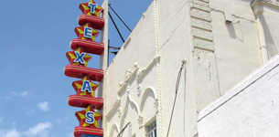 The Texas Theatre where Oswald was apprehended
