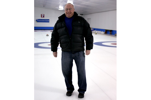 "Jim ""Dex"" Dexter manages the St. Paul Curling Club.  He's been curling for more than 40 years.                                             (Marc Sanchez)"