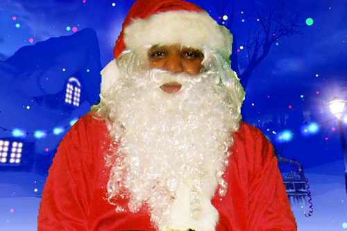 "Jeryn Calhoun attended the C.W. Howard Santa School in Midland, Mich. He was the only African- American student out of 70 from the United States and Canada. ""Santa is a spirit and an ideal,"" he says. ""When someone is in that Santa suit, the children are colorblind.""                                             (Courtesy Jeryn Calhoun)"