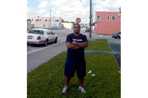 Max Rameau, who started the Take Back the Land Project in Miami.                                             (Andrew Stelzer)