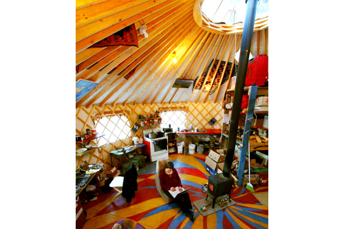 A bird's-eye view of the yurt.                                             (Bretwood Higman)