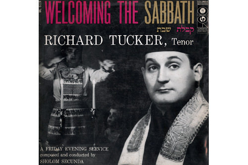 """Welcoming the Sabbath,"" a 1956 album by Richard Tucker released through Columbia Records.                                             (Courtesy www.trailofourvinyl.com)"