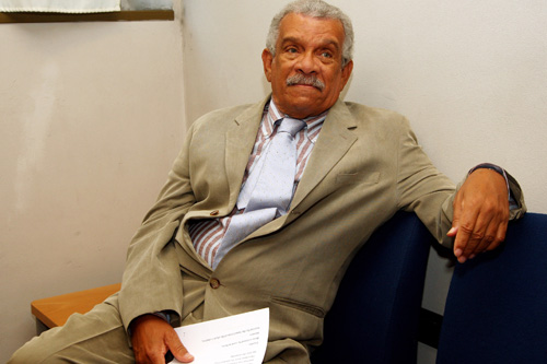 "Poet, playwright and Nobel Laureate Derek Walcott has written over 40 plays and volumes of poetry. He's also worked on musical theater, including a collaboration with Paul Simon on the Broadway production of ""The Capeman.""                                             (Vittorio Zunino Celotto/Getty Images)"