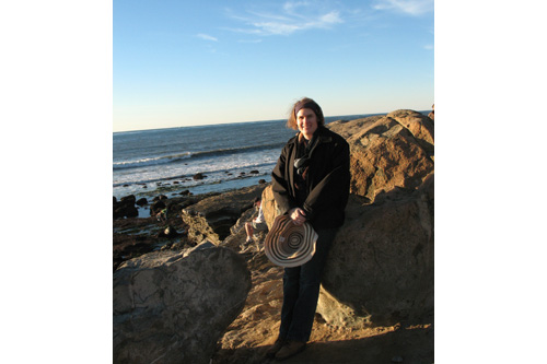 Amy Hoffman at the tide pools at Point Loma in California.                                             (Courtesy Amy Hoffman)