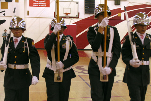 A JROTC competition at Hollywood High School.                                             (Daniela Gerson)