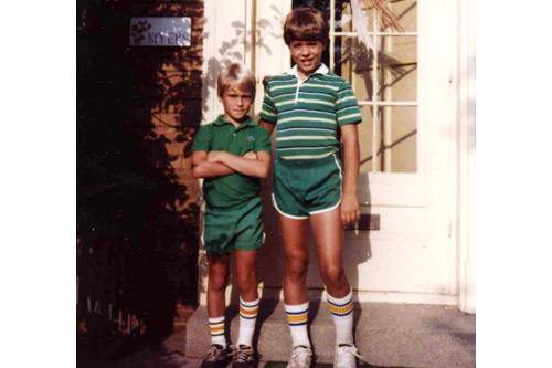 Rob McGinley Myers with his brother Scott years before their fist fight.                                             (Courtesy Rob McGinley Myers)